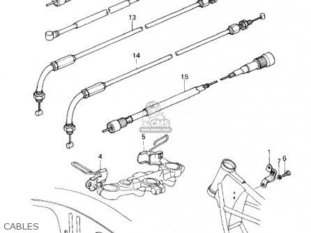 Kawasaki 1981 Kz1300-a3 Cables