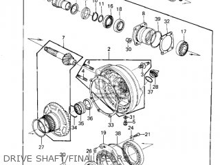 Kawasaki 1981 Kz1300-a3 Drive Shaft final Gears