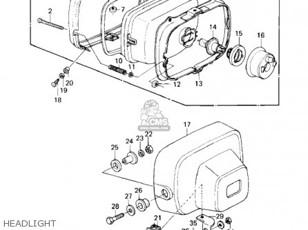 Kawasaki 1981 Kz1300-a3 Headlight