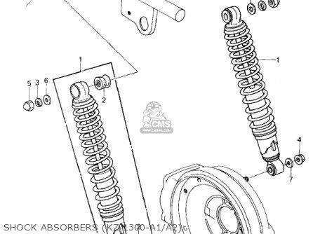 Kawasaki 1981 Kz1300-a3 Shock Absorbers kz 1300-a1 a2