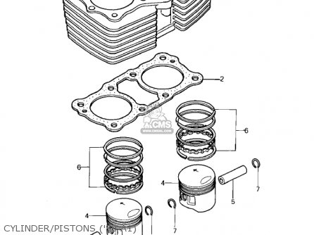 Kawasaki 1981 Kz440-a2 Ltd Cylinder pistons 80 A1