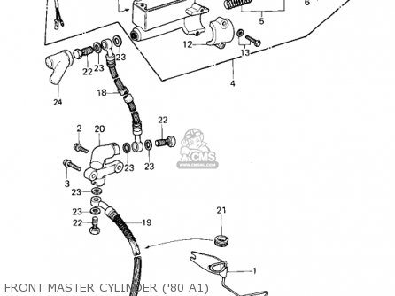 Kawasaki 1981 Kz440-a2 Ltd Front Master Cylinder 80 A1