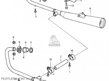 Kawasaki 1981 Kz440-a2 Ltd Mufflers 80 A1