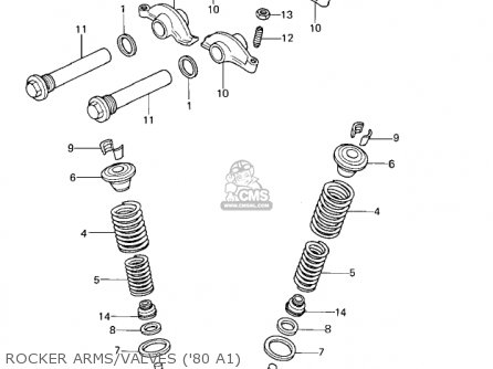 Kawasaki 1981 Kz440-a2 Ltd Rocker Arms valves 80 A1
