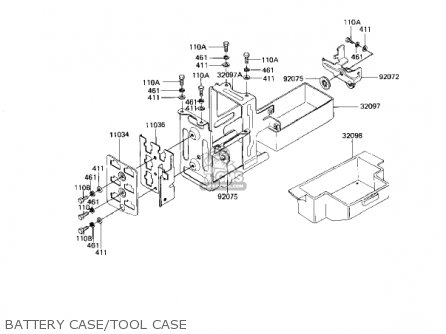 Kawasaki 1982 Kz1100-d1 Spectre Battery Case tool Case