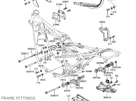 Kawasaki 1982 Kz1100-d1 Spectre Frame Fittings