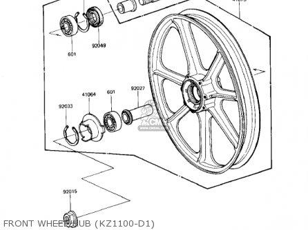 Kawasaki 1982 Kz1100-d1 Spectre Front Wheel hub kz1100-d1