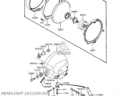 Kawasaki 1982 Kz1100-d1 Spectre Headlight kz1100-d2