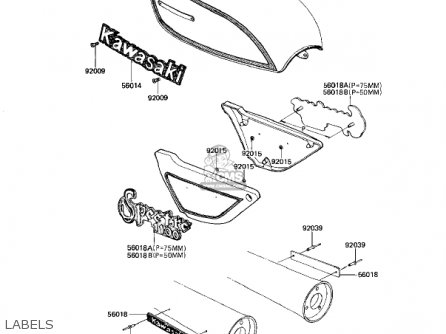 Kawasaki 1982 Kz1100-d1 Spectre Labels