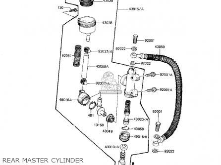 Kawasaki 1982 Kz1100-d1 Spectre Rear Master Cylinder