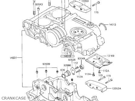 Kawasaki 1983 Kz750-k1 Ltd Belt Crankcase