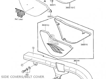 Kawasaki 1983 Kz750-k1 Ltd Belt Side Covers belt Cover