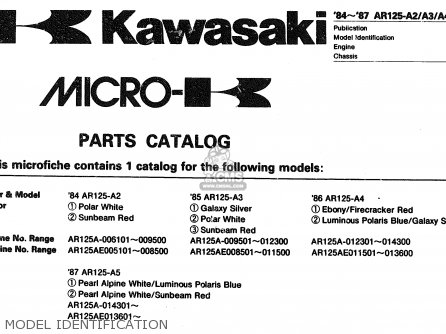 Kawasaki 1984 A2  Ar125 Model Identification