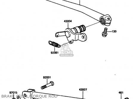 Kawasaki 1984 A2  Zx750 Brake Pedal torque Rod