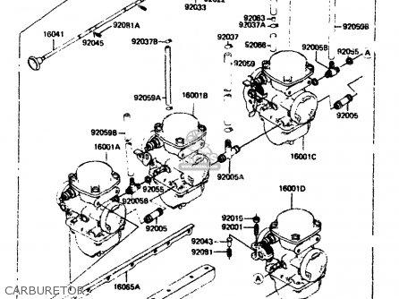 Kawasaki 1984 A2  Zx750 Carburetor