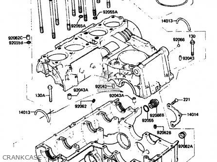 Kawasaki 1984 A2  Zx750 Crankcase