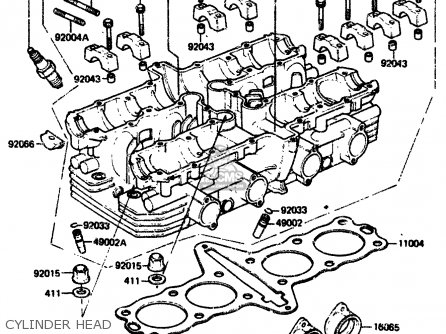 Kawasaki 1984 A2  Zx750 Cylinder Head