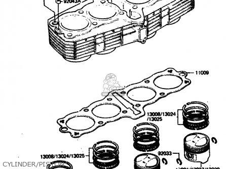 Kawasaki 1984 A2  Zx750 Cylinder piston