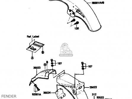 Kawasaki 1984 A2  Zx750 Fender