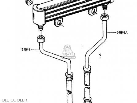 Kawasaki 1984 A2  Zx750 Oil Cooler