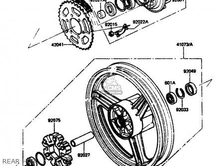 Kawasaki 1984 A2  Zx750 Rear Hub