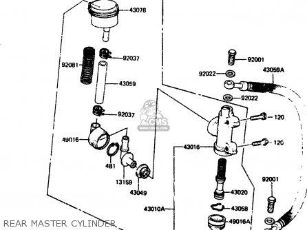 Kawasaki 1984 A2  Zx750 Rear Master Cylinder