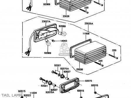 Kawasaki 1984 A2  Zx750 Tail Lamp