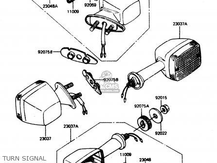 Kawasaki 1984 A2  Zx750 Turn Signal