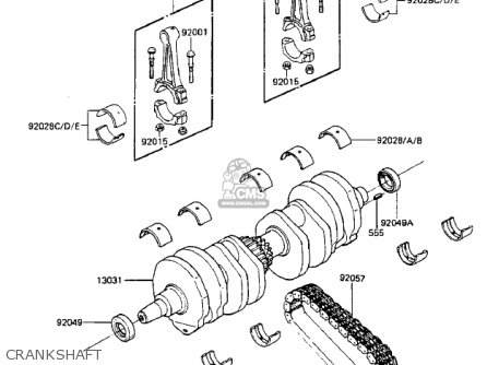 Kawasaki 1984 Zx750-a2 Gpz 750 Crankshaft