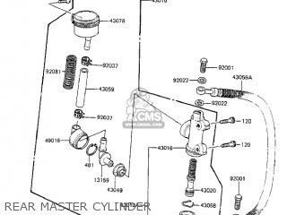 Kawasaki 1984 Zx750-a2 Gpz 750 Rear Master Cylinder