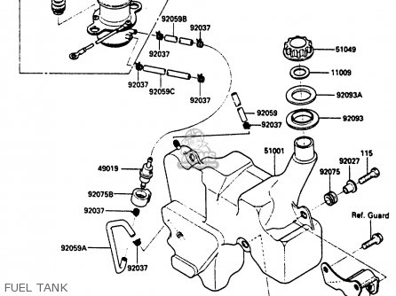 Kawasaki 1985 A1  Klf185 Fuel Tank