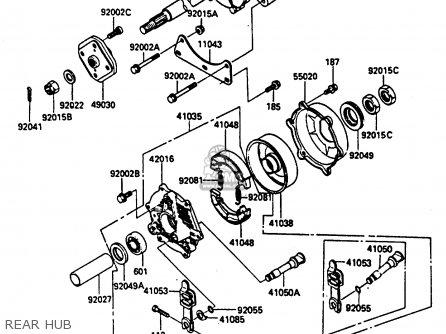 Kawasaki 1985 A1  Klf185 Rear Hub