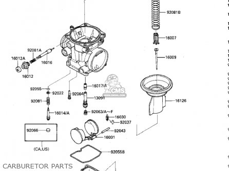 Kawasaki 1985 Zx600-a1 Ninja 600 Carburetor Parts