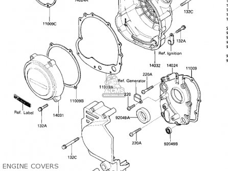 Kawasaki 1985 Zx600-a1 Ninja 600 Engine Covers