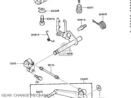 Kawasaki 1985 Zx600-a1 Ninja 600 Gear Change Mechanism