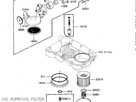 Kawasaki 1985 Zx600-a1 Ninja 600 Oil Pump oil Filter