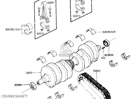 Kawasaki 1985 Zx750-e2 Gpz 750 Turbo Crankshaft