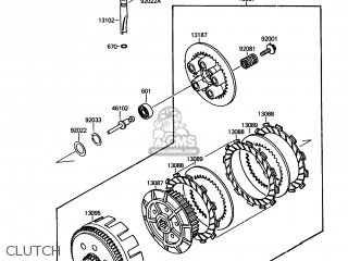 Kawasaki 1987 A1  Ksf250 north America Clutch