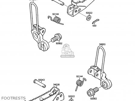 Kawasaki 1987 A1  Ksf250 north America Footrests