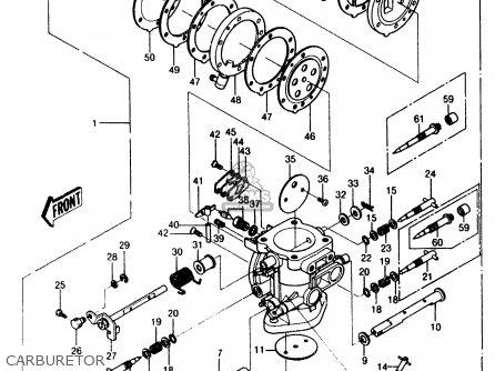 kawasaki 1987 a6  js550 parts list partsmanual partsfiche