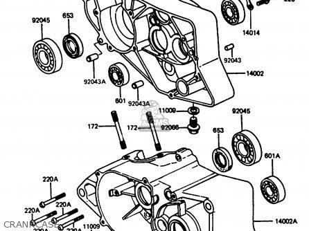 Kawasaki 1987 C5  Ar80 Crankcase