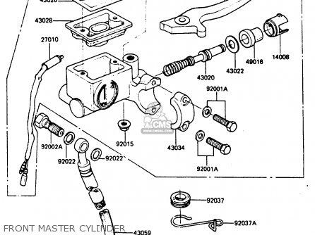 Kawasaki 1987 C5  Ar80 Front Master Cylinder