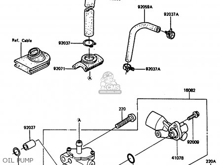 Kawasaki 1987 C5  Ar80 Oil Pump
