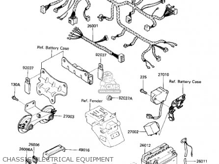 Kawasaki 1987 Zx600-b1 Ninja 600rx Chassis Electrical Equipment