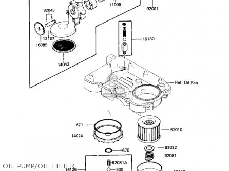 Kawasaki 1987 Zx600-b1 Ninja 600rx Oil Pump oil Filter