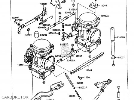 Kawasaki 1988 B1  Kaf450 north America Carburetor