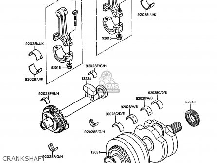 Kawasaki 1988 B1  Kaf450 north America Crankshaft