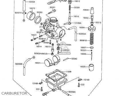 Kawasaki 1988 C6  Ar80 Carburetor