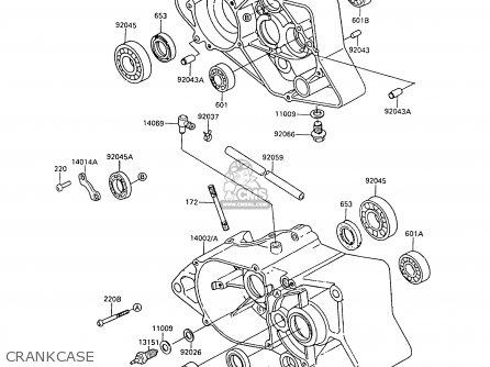 Kawasaki 1988 C6  Ar80 Crankcase
