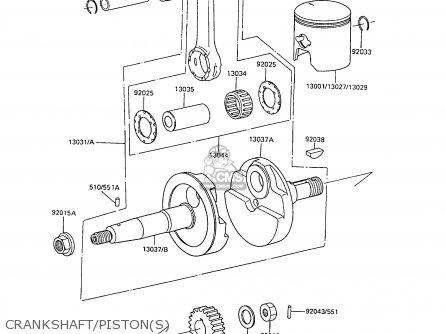 Kawasaki 1988 C6  Ar80 Crankshaft pistons